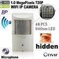720 P mini ip wi-fi камера 940nm led Безопасности Сетевая Камера Ночного видение ПИР ИК Ip-камера PIR Motion Detector мини камеры-Обскуры