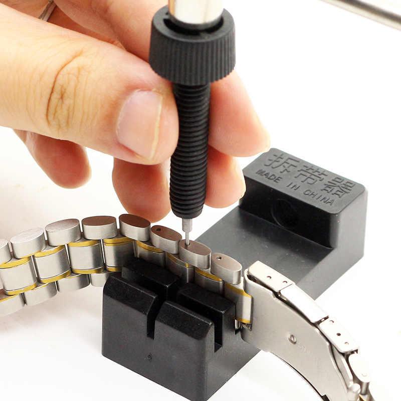 חוזק גבוה ABS!!! שרשרת קישור להקת שעון להתאים סדק רצועת צמיד פין Remover שמאי ערכת כלי תיקון עבור גברים/נשים שעונים