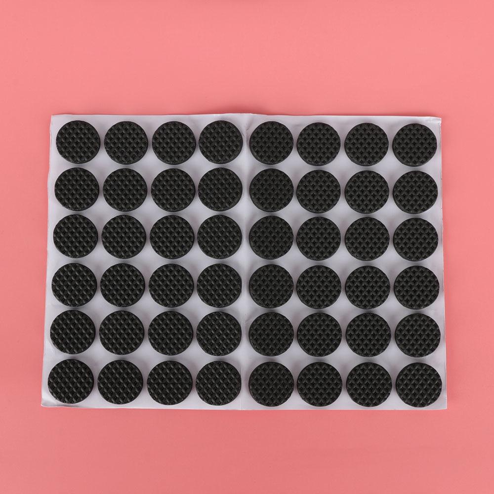 48 шт напольные протекторы коврик нескользящий самоклеющийся мебельный резиновый коврик для ног стол стул круглый липкий коврик для ног дивана стула - Цвет: Round
