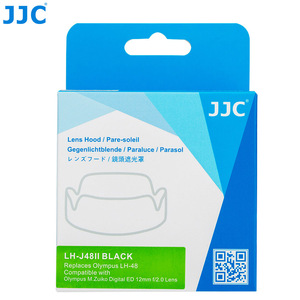Image 5 - Jjc LH J48II 카메라 올림푸스 m. zuiko 디지털 ed 12mm f/2.0 렌즈 용 후드 캡이있는 블랙 렌즈 후드 olympus LH 48 대체
