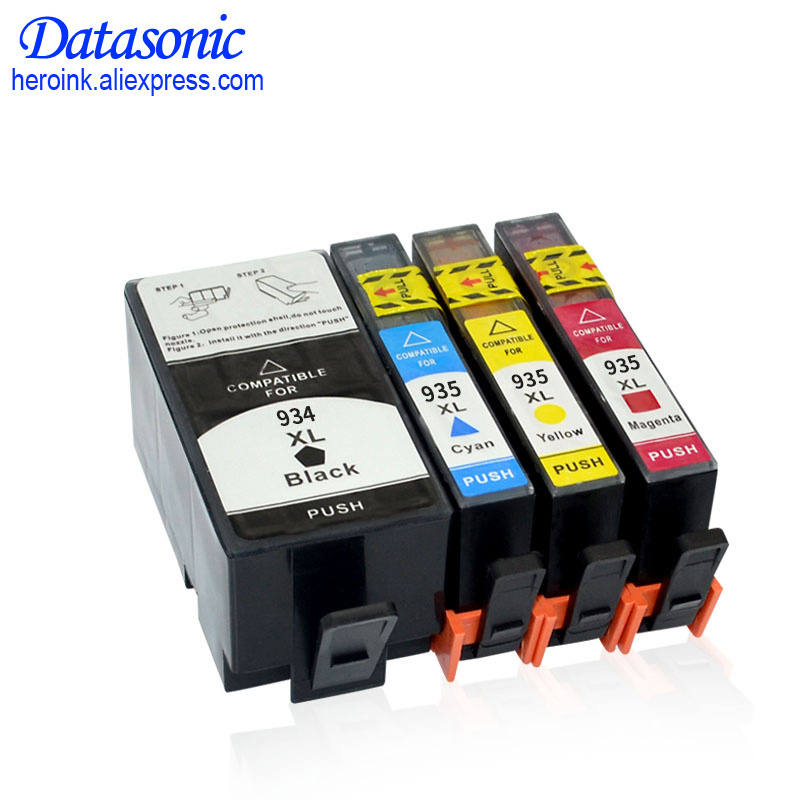 цена 4PK DAT For HP 934 935 934XL 935XL Compatible Ink Cartridge For HP Officejet Pro 6230/6830/6835/6812/6815/6820 Printer