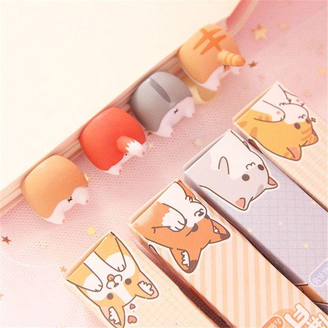 Cute Cartoon Dog Bottoms Bookmarks