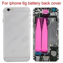 JPFix для iPhone 6G задняя крышка батарейного отсека чехол для задней части телефона средняя панель Замена в сборе с гибким кабелем