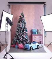 pink shabby chick room decorations christmas tree toy car backdrop Vinyl cloth Computer print children kids Background