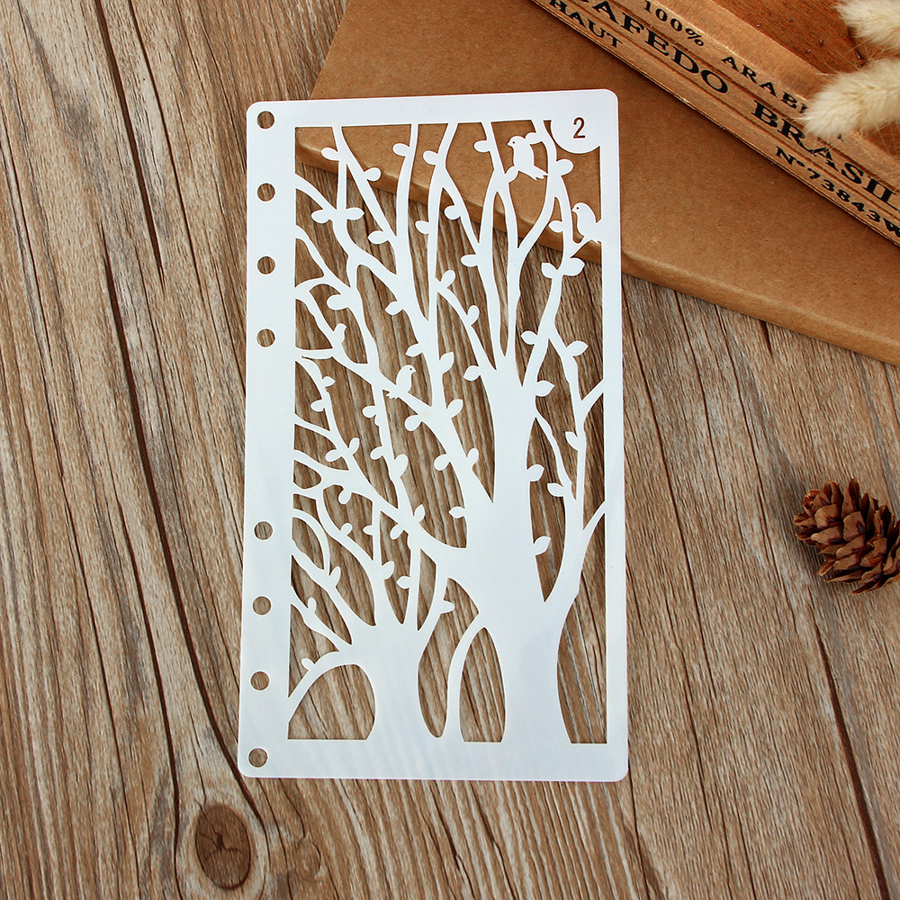 1Pcs A6 Tree Leaf Bird DIY Craft Layering Stencils Wall Painting Scrapbooking Stamping Embossing Album Paper Card Template