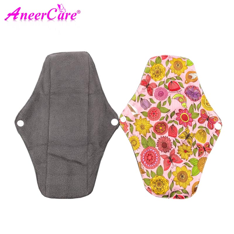 5pcs Wasbaar Maandverband Cloth Menstrual Feminine Sanitary Reusable Cloth Pads Maxi Pads Machine Washable Absorbent Reusable