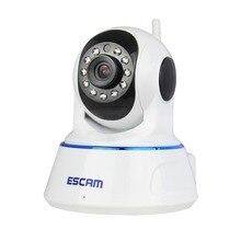 Escam QF002 720 P HD WIFI Caméra IP Sans Fil Mégapixels P2P IR PT Réseau Nuit Vision Microphone Pan Tilt avec Carte Micro Sd Slot