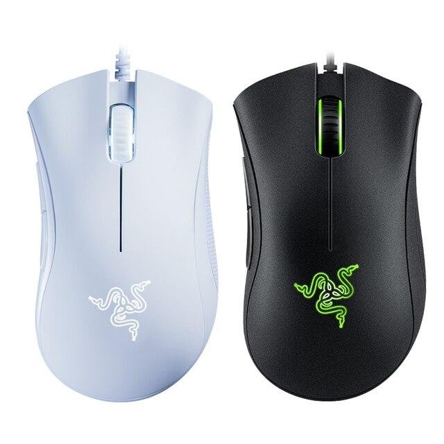 Mouse Mouse da gioco cablato essenziale Razer DeathAdder originale 6400DPI sensore ottico 5 pulsanti indipendenti per PC portatili Gamer 5
