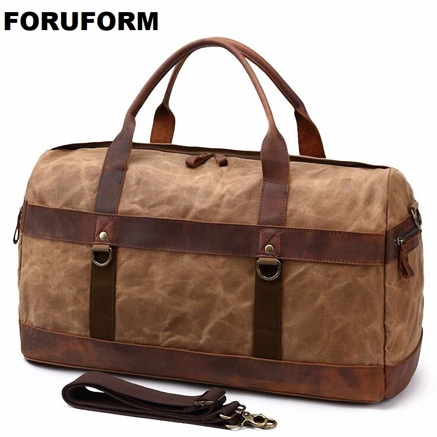 2018 High Quality Waterproof Canvas Mens Travel Bags Bucket Handbags Shoulder Bag Big Volume Men Business Luggage Bag LI-20382018 High Quality Waterproof Canvas Mens Travel Bags Bucket Handbags Shoulder Bag Big Volume Men Business Luggage Bag LI-2038