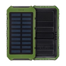 Solar Power Bank Solar Charger 10000mAh Waterproof Portable Backup External Battery Pack for Cellphone, Tablet, Camera