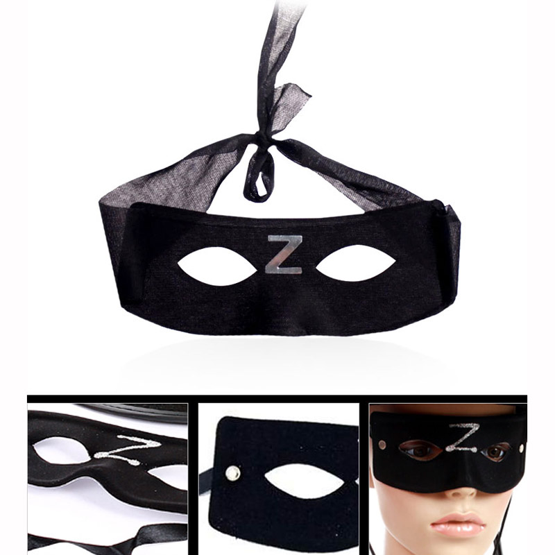 Children adult Cloth compound Zorro mask halloween party cosplay performance masquerade MASK