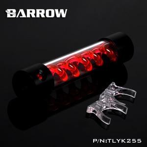 Image 5 - BARROW 255 мм X 50 мм двойная спираль Т Вирус цилиндрическая система освещения бака охлаждающей жидкости с водяным охлаждением POM + PMMA черная крышка