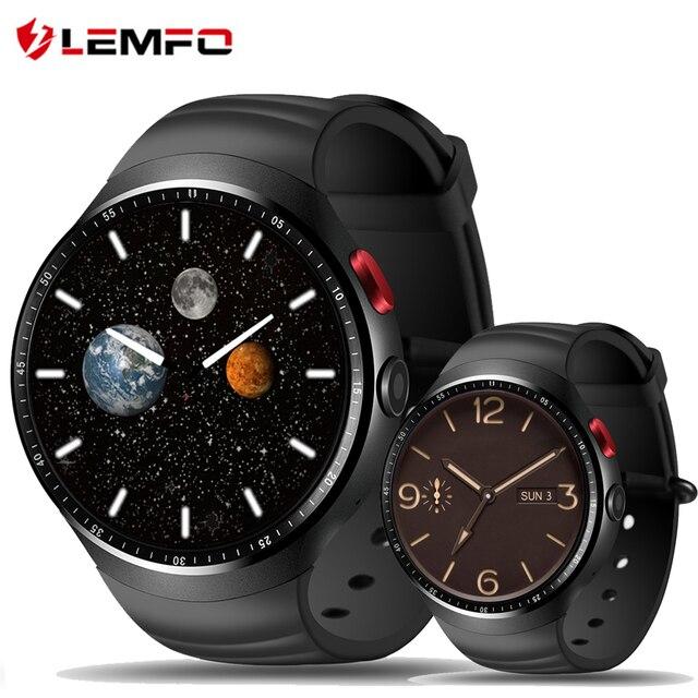 LEMFO LES1 Смарт Смотреть Android 5.1 OS 1 ГБ RAM 16 ГБ ROM WI-FI 3 Г GPS Heart Rate Monitor Bluetooth MTK6580 Quad Core SmartWatch