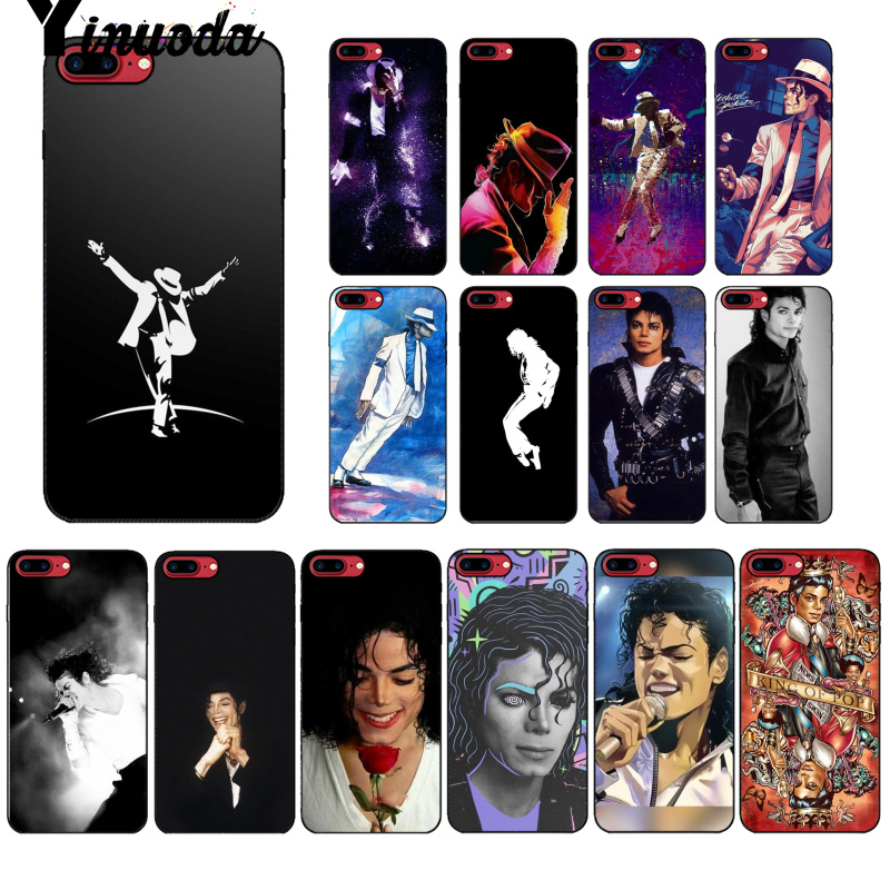 Yinuoda Michael Jackson Colorful Cute Phone Accessories Case for Apple iPhone 8 7 6 6S Plus X XS MAX 5 5S SE XR Mobile Cases