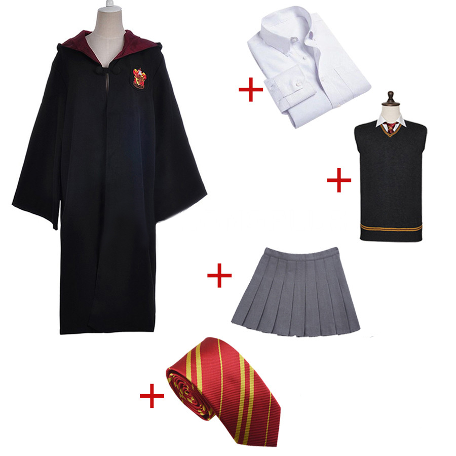 Gryffindor Uniform Hermione Granger Cosplay Costume Adult Version Halloween Party New Gift
