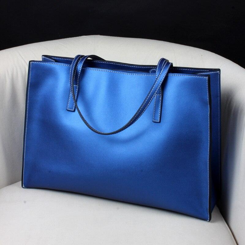 Bolso de mano de marca para mujer, bolso de playa, bolsos de cuero para mujer, 100%, bolso informal de cuero auténtico, envío gratuito