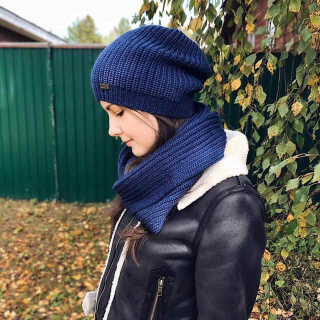 Furtalk mujeres de invierno gorro de punto para Niñas lana slouchy ...