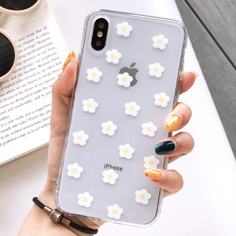 KIPX1117W_1_JONSNOW Transparent Flowers Pattern Phone Case for iPhone X XR XS Max 8 Plus 7 6P 6S Cases Soft Silicone Cover Capa Coque Fundas
