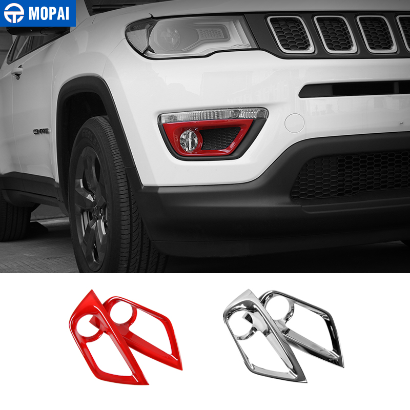 MOPAI ABS Car Front Side Fog Light Lamp Decoration Frame Trim Stickers for Jeep Compass 2017 2018 Car Accessories Styling|compass jeep|compass for car|compass sticker - title=