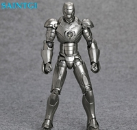 SAINTGI Iron Man Mark II MK 2 SCI-FI Avengers Marvel GEEN. 035 Collectible Action Beweegbare LED Licht Transplantatie Boxed 15 cm PVC