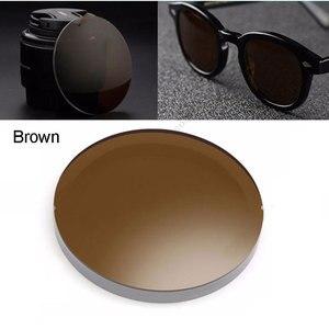 Image 3 - 1.499 1.61 1.67 polarizado prescrição CR 39 resina asférica óculos lentes miopia óculos de sol lente revestimento polarizado