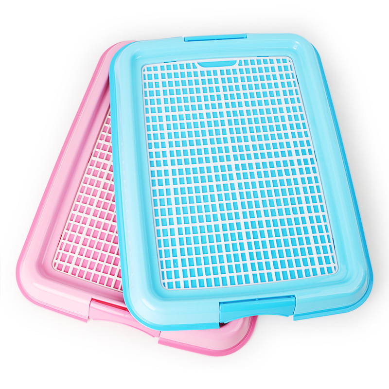 2 Color Indoor Pet Dog Cat Toilet Training Cleaning Pad Plastic Pet Toilet Tray Mat Pet Supplies 48x 36x13.5cm