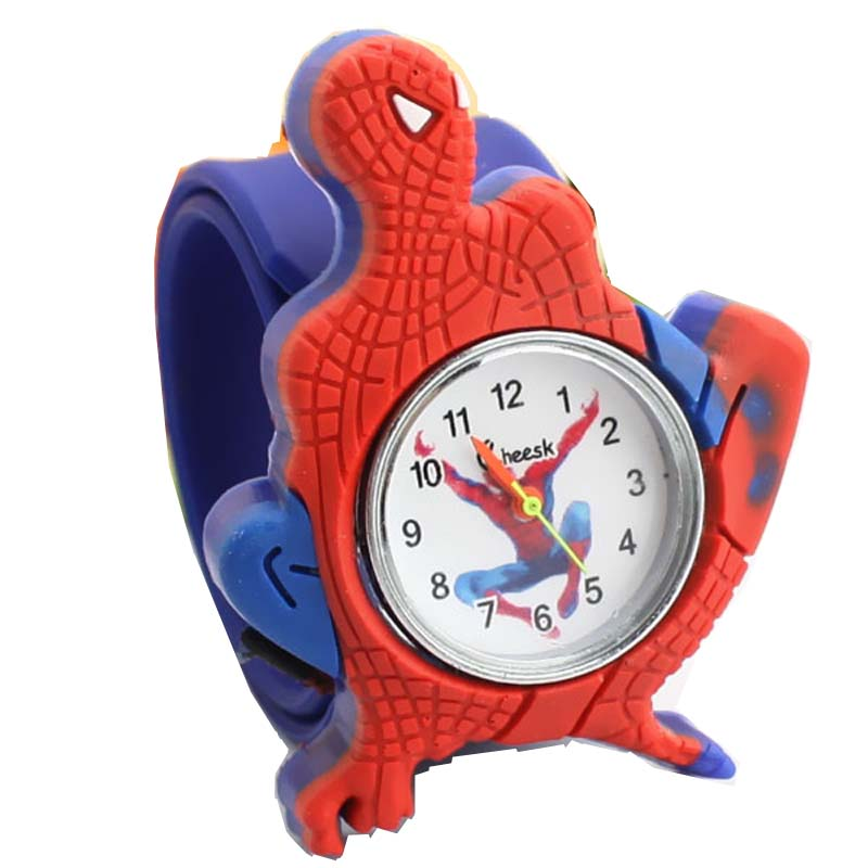 2019 Cartoon Spiderman Watches Fashion Children Boys Kids Students Spider-man Sports Silicone Analog Wristwatches