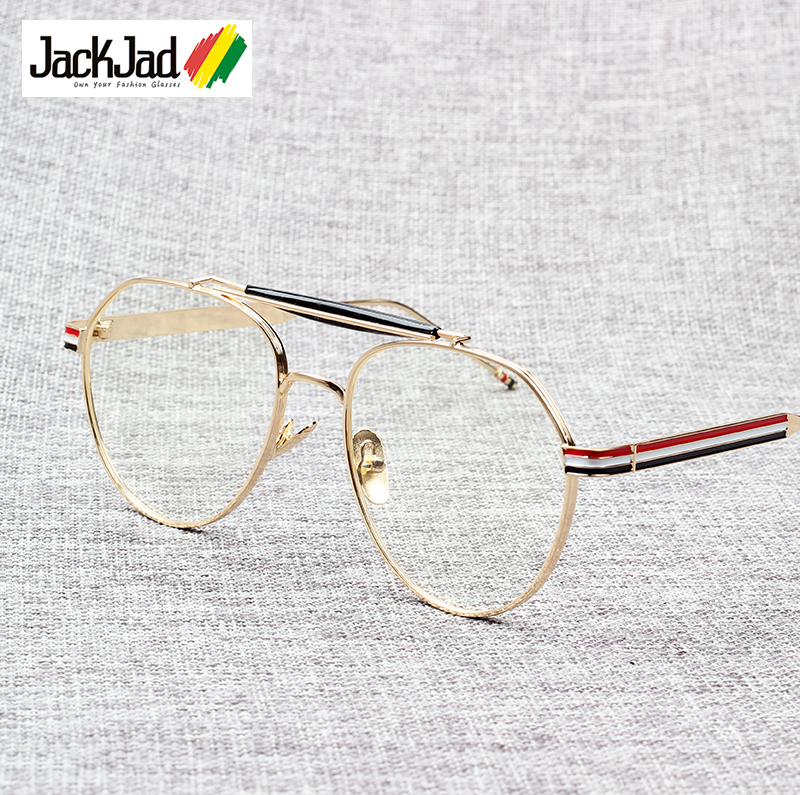 JackJad 2018 Neue Mode Vintage Runde Stil Plain Gläser Marke Design ...