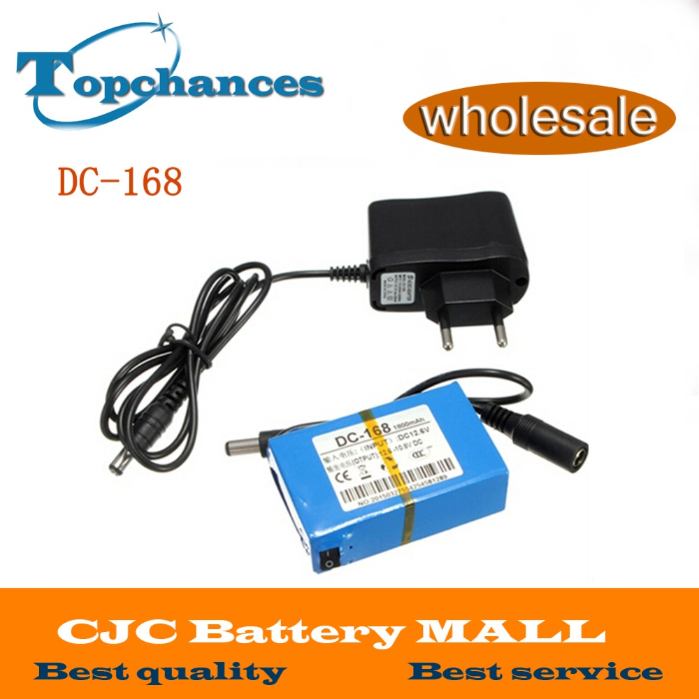 Wholesale DC-168 DC 12V 1800mAh rechargeable Li-ion Battery for CCTV camera 20pcs/lot With <font><b>Charger</b></font> DHL /<font><b>UPS</b></font> Free shipping