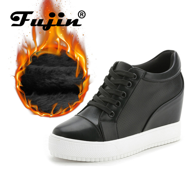 Fujin Brand Summer Breathable Shoes Women Summer wedges 7cm high platform female casual shoes shoes female pumps heel autumn