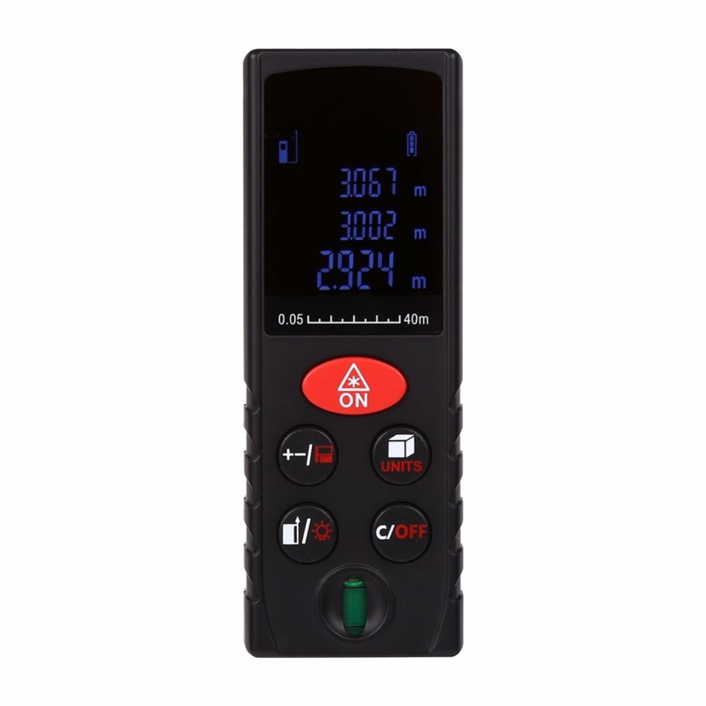 Digital Laser Distance Meter 40/60/80/100m Range Finder Level Ruler Area Volume Measure Level Bubble High Precise Handheld  цены