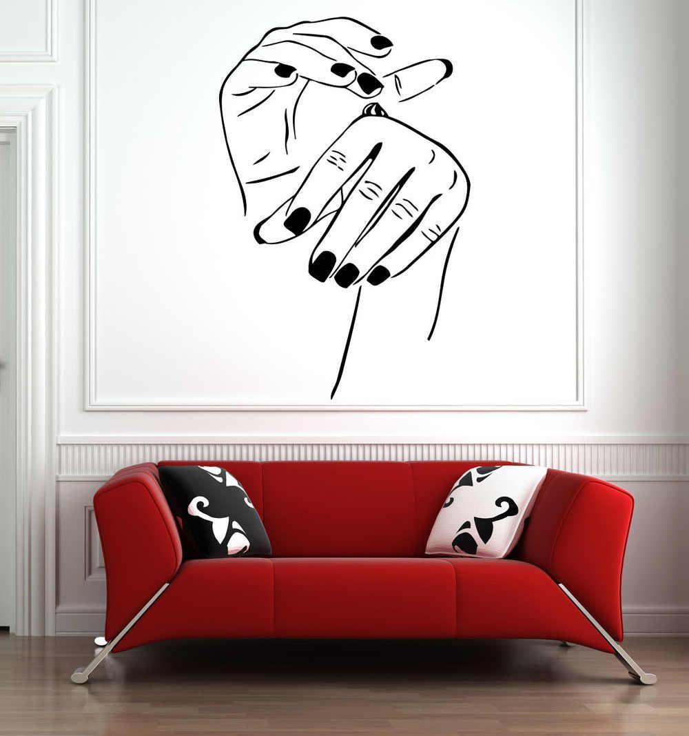 Виниловые настенные наклейки для салона красоты декоративные виниловые