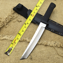 RECON TANTO SAN MAI Cold Steel Fixed Knives,9Cr18Mov Blade ABS Handle Sanding Outdoor Survival Knife D2