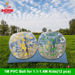 12 Uds. Pelotas + 1 soplador eléctrico 1M PVC burbuja inflable fútbol pelota burbuja bola de futebol