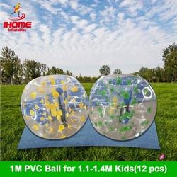 12 stuks ballen + 1 elektrische blower 1M PVC Opblaasbare Bubble Voetbal Bal bubble bal bola de futebol