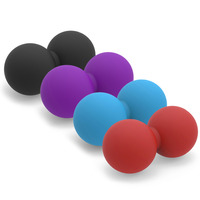 Peanut Lacrosse Ball Mobility Massage Ball Myofascial & Trigger Point Release Muscle Roller Ball