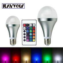 3W 10W RGB E27 16 Colors LED Light Bulb Lamp Spotlight Led Lighting Bulb 85-265V Spotlight + IR Remote Control free shipping