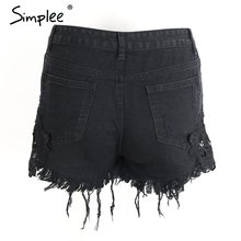 Simplee 2016 ripped pocket women shorts Summer casual denim shorts vintage hot shorts denim shorts for women