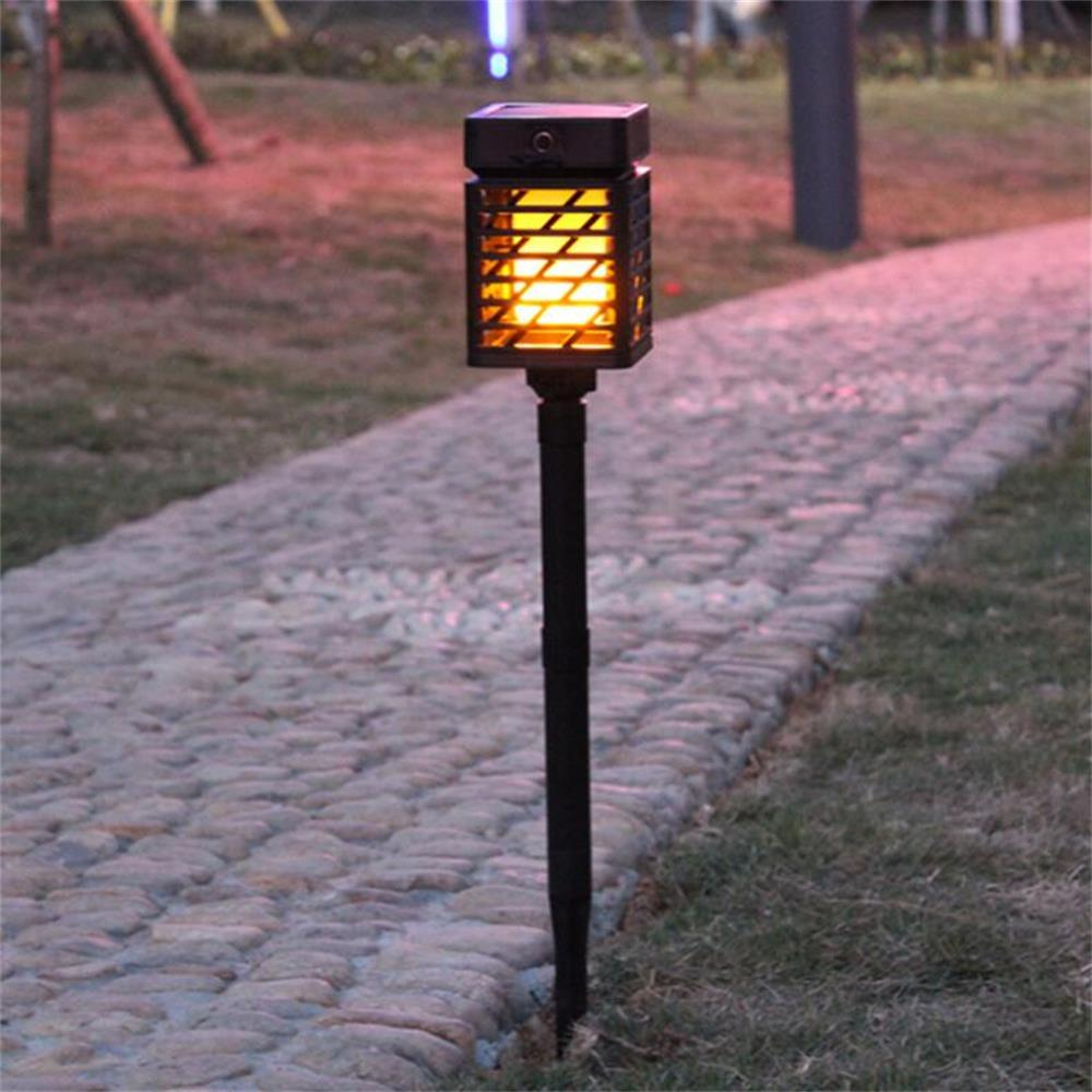 Waterproof LED Solar Garden lights Lawn Lamp LED Flame Flickering Light Torch Outdoor Solar Landscape Yard Decoration Lighting цена