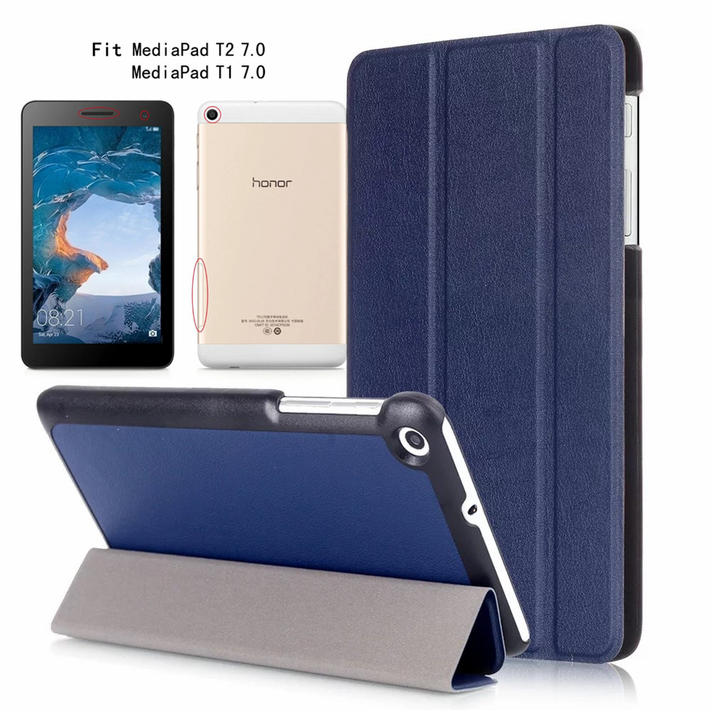 T1-701u Leather Case Flip Cover For Huawei MediaPad T2 T1 7.0 tablet T1 701U BGO-DL09 Lte T1-701UA table case Protective shell