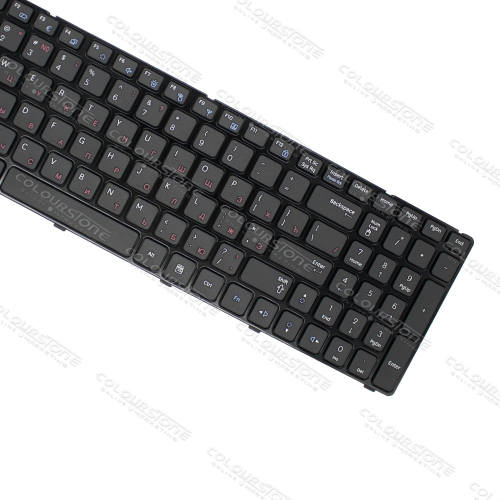 Original Brand New RU Laptop Keyboard for Samsung R580 Russian Black keyboard  (8)