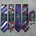 New Arrival 40 Styles Brand Men`s 100% Silk Ties Jacquard Woven Gravata Necktie Hanky Cufflink Sets For Wedding Party Business
