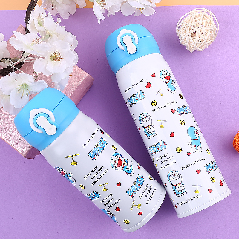 350ML / 500ML Mooie Japanse Cartoon Doraemon Merk ontwerp isolatie Thermos waterfles Vacuüm koffiemok Kid's Thermosfles