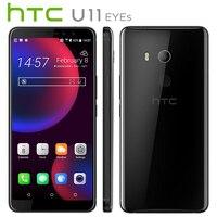 Оригинальный Новый htc U11 глаза 4G LTE мобильный телефон 6,0 4 GB Оперативная память 64 Гб Встроенная память Dual SIM Android8.0 Snapdragon652 OctaCore IP67 Callphone NFC