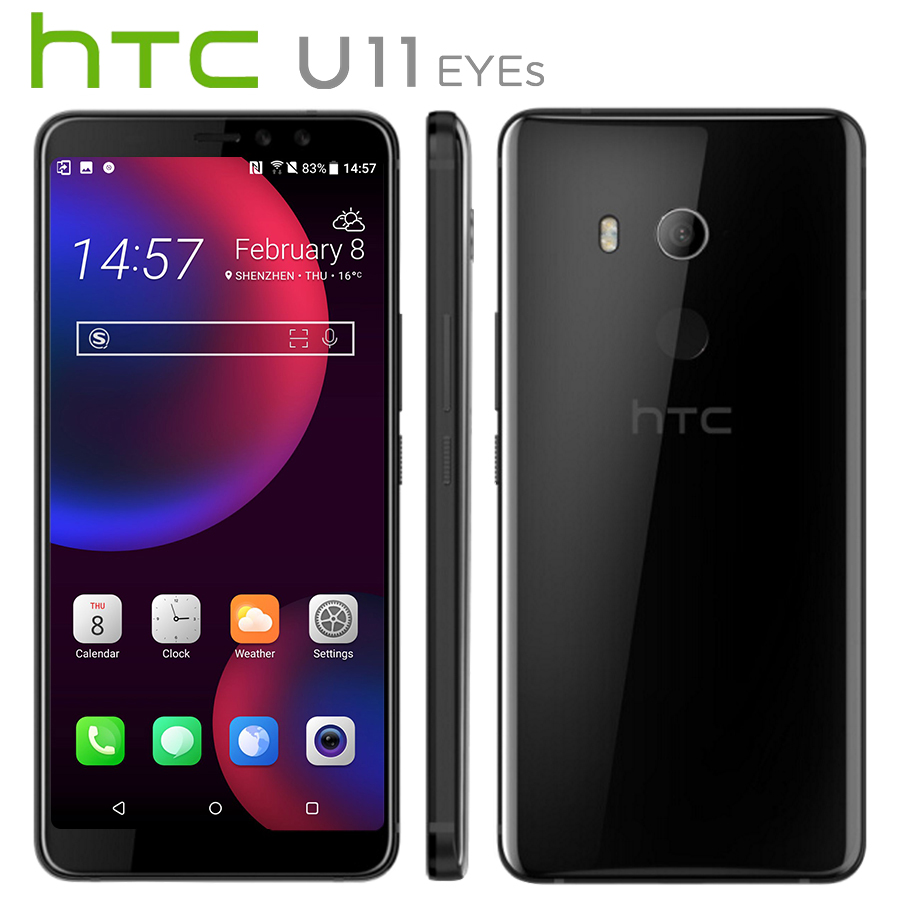 Original NEW HTC U11 EYEs 4G LTE Mobile Phone 6.04GB RAM 64GB ROM Dual SIM Android7.0 Snapdragon652 OctaCore IP67 Callphone NFC