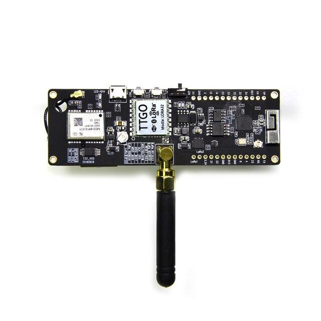TTGO T-Strahl ESP32 433/868/915 mhz WiFi drahtlose Bluetooth Modul ESP 32 GPS NEO-6M SMA LORA 32 18650 Batterie halter mit SoftRF