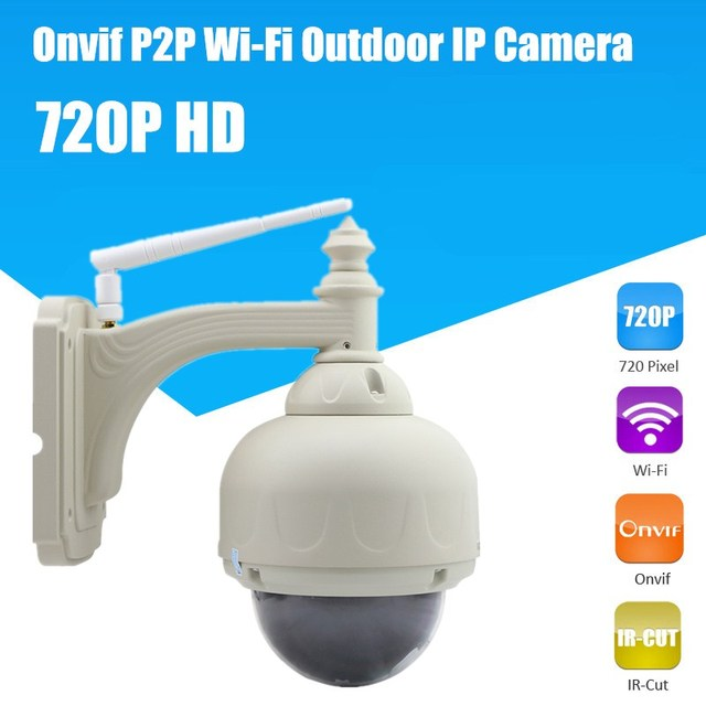 IR Cut Pan/Tilt Night Vision Wireless Wifi Waterproof Outdoor Dome Security Surveillance Webcam Network IP Camera