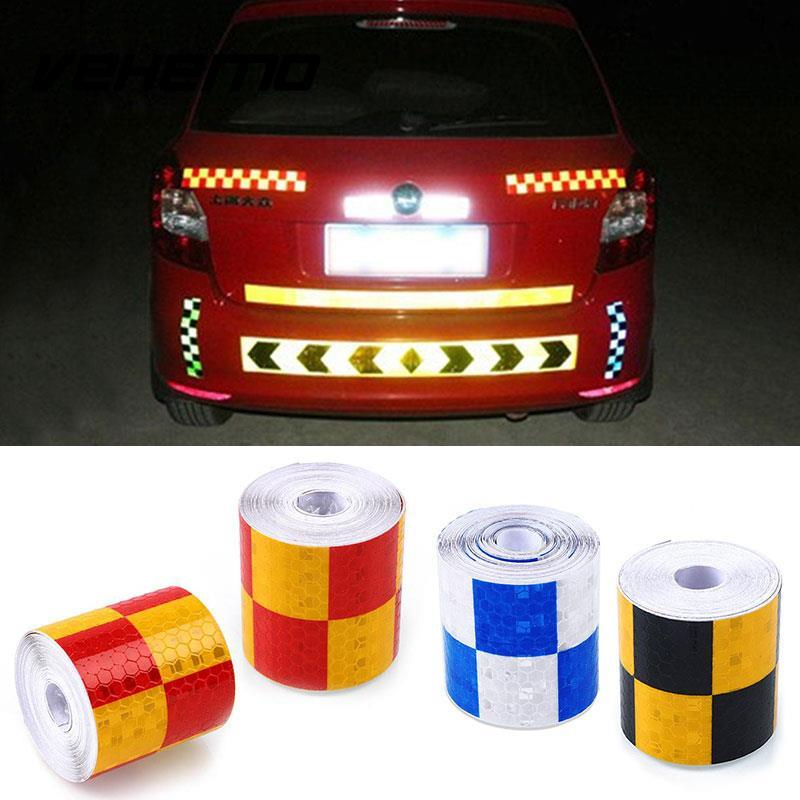 Vehemo 5cmx4m motorcycle Car Reflective tape sticker for Truck Car Motorcycle Bike safety use Decoration Stickers Car Styling
