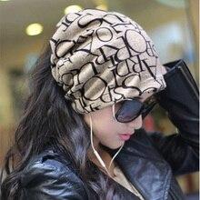 Новая Мода Корейских Женщин Lady Шапочка Шарф Шляпа Череп Шапка Ленты Для Волос 4 Цветов