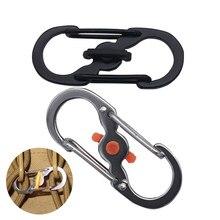 Скалолазание мини-пряжка наружная Форма S альпинистский крюк карабины с застежкой
